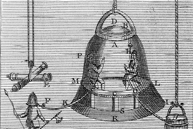 Edmond Halley improves the diving bell