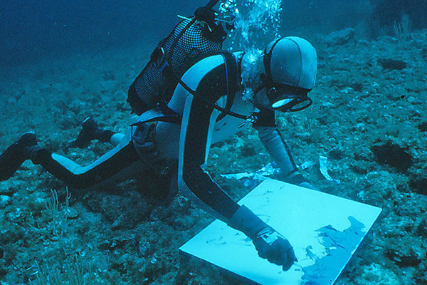 First underwater painter
