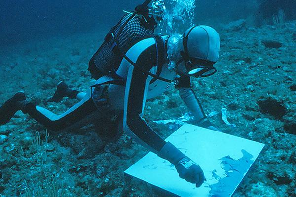 Deepest underwater artist