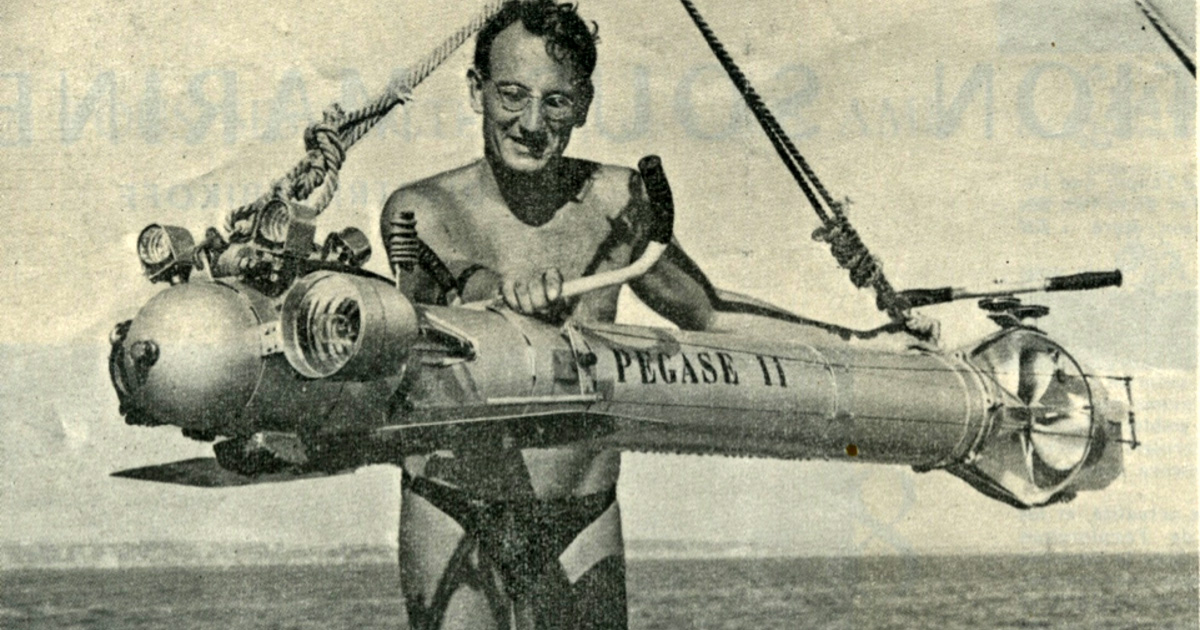 First diver propulsion vehicle [DPV]