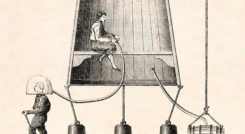 Charles Spalding builds a wooden bell