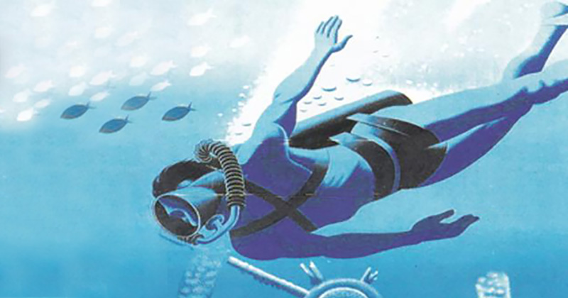 First underwater movie [Filmed on scuba]