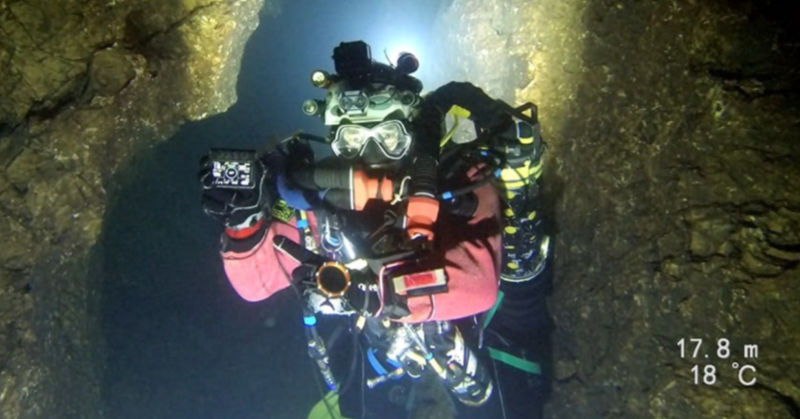 Deepest cave dive (Men)