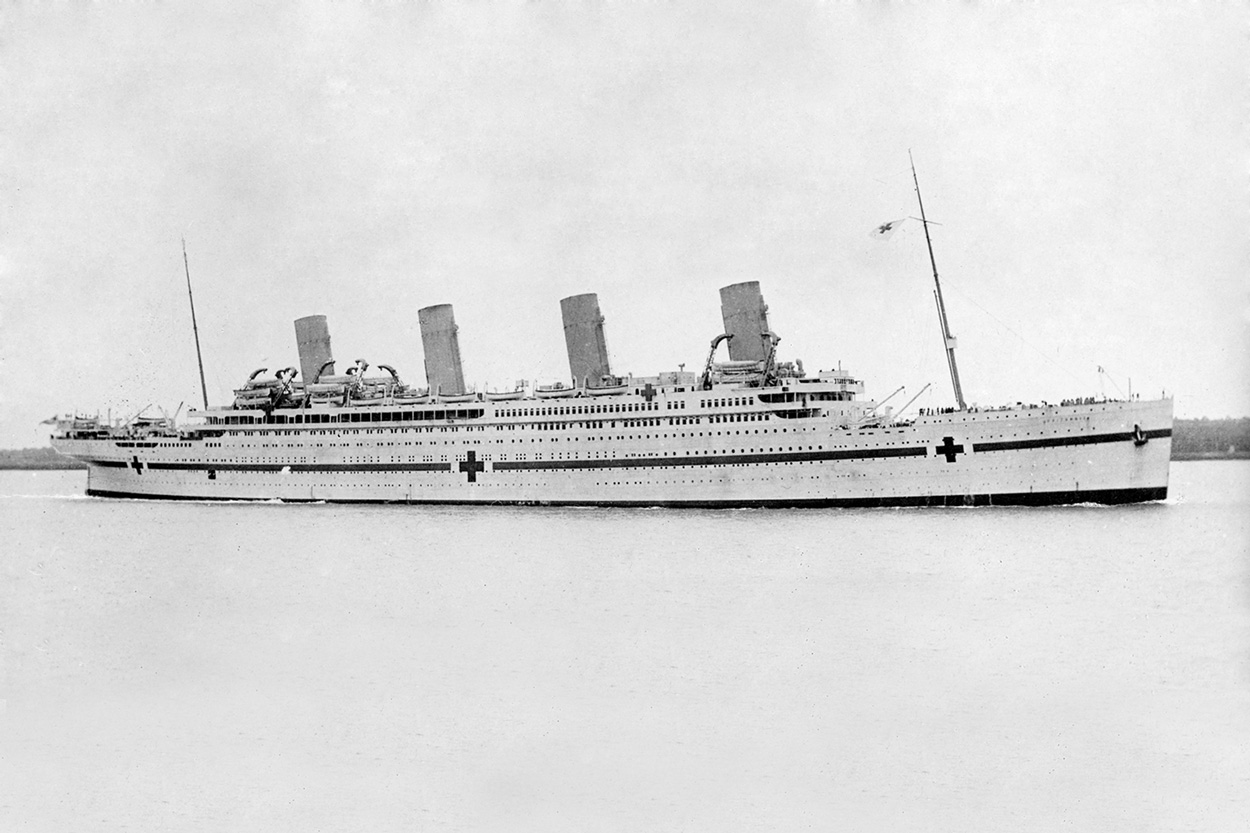 First dive on the HMHS Britannic