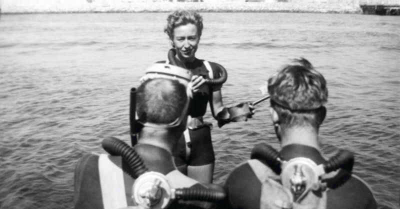 First female scuba diving instructor