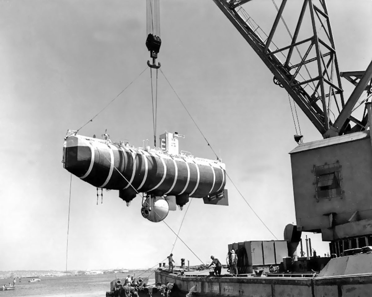 The bathyscaphe Trieste is designed