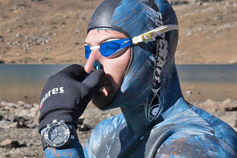 Highest altitude freedive (STA | Men)
